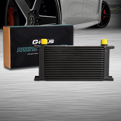 19 ROW AN10-10AN Universal Racing Aluminum Engine Transmission Oil Cooler Black