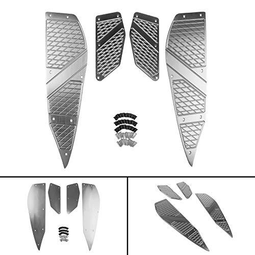 Artudatech Motorrad Hintere Front Fußrasten Footpegs Fußpedal Pad Trittbretter Abdeckung Foot Peg Plate Fußrastenplatte Für Yamaha XMAX 125 250 300 400 RD 2017 2018