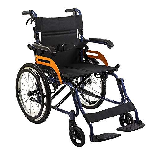 KosmoCare Elegant Dzire Premium Lightweight Folding Wheelchair with Seat Belt
