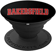BAKERSFIELD CA CALIFORNIA Varsity Style USA Vintage Sports PopSockets Grip and Stand for Phones and Tablets