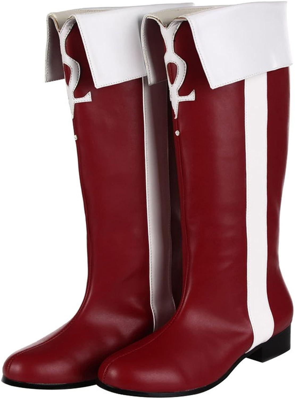 Mtxc Women's Puella Magi Madoka Magica Cosplay Kyouko Sakura shoes Red