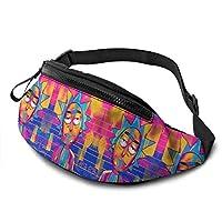 NHCY Rick & Morty Casual Cintura Bolsa Fitness Belt Bag Pack Pocket Pouch para Hombres Mujeres Niños Adolescentes