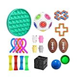 Fidget Toys, 22 Pack Sensory Fidget Toys Set, Stress Relief Hand Toys for Adults Kids ADHD ADD Anxiety Autism, Perfect for Birthday Party Favors, School Classroom Rewards