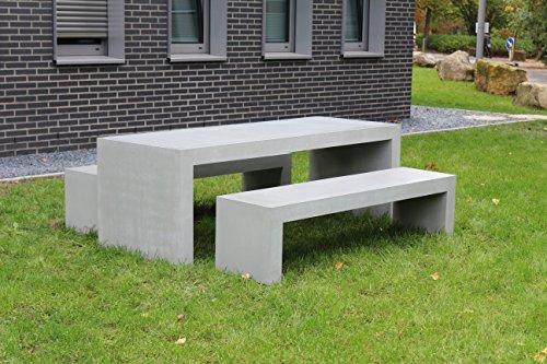 """stayconcrete Beton-Sitzgarnitur """"limpertsberg"""" - Betontisch mit passenden Bänken"""