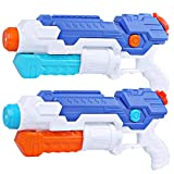 PEFECEVE Water Gun Blaster for Kids, 2 Pack 800 CC Capacity 40Ft Long Range Squirt Guns for Adults, Pool Toys for Teens Swimming Beach Sand Water Fighting Air Cannon Toy