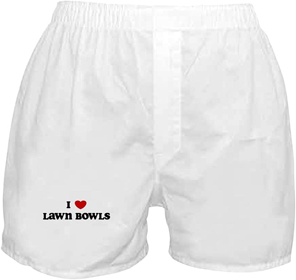 CafePress I Dealing full price low-pricing reduction Love Lawn Shorts Boxer Bowls