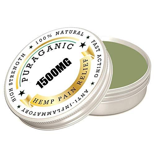 Bálsamo de Cáñamo Puraganic 1500 mg | Unción de Alta Calidad - Ayuda Aliviar el Dolor, Antiinflamatorio Natural con Extractos de Plantas | Ungüento de Acción Rápida, 60 ml