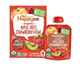 Happy Squeeze Organic Superfoods Twist Apple Beet Strawberry Kiwi, Organic Baby Toddler Kid Snack, Resealable, No Added Sugar Non-GMO Kosher, Good Source of Vitamin C, 3.17 Ounce Pouch (Pack of 16)