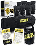 Impact Fit Sandbags for Fitness with 8 Handles | Reinforced 80 lb Sandbag Workout Bag with 20 lb Kettlebell Sandbag Improves Your Fitness and Stamina | Sandbag Workout with Sand Kettlebell