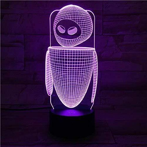 Robot Eva Table Lamp Bedroom EVE Decoration Cartoon RGB Touch Sensor Children Kids Gadget Gift Wall E Night Light LED USB Decor A-879