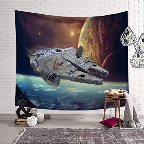 KOREYOSHIX Tapiz decorativo de pared con diseño de película de Star Wars para decoración del hogar, dormitorio, 230 x 180 cm
