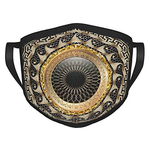 Vcoanyu Greek Key Meander Round 3D Mandala Pattern Face Masks Washable Reusable Safety Masks Protection from Dust Pollen Pet Dander Other Airborne