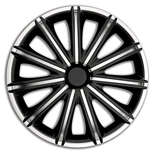 AUTOSTYLE Jeu d'enjoliveurs Nero 17-inch argent/noir