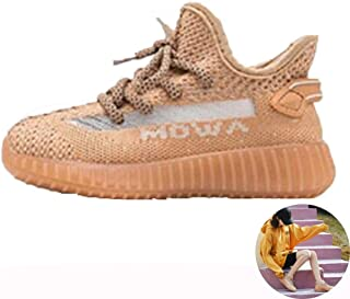 Running Shoes Fly Woven Ladies Casual Shoes Non-Slip Fashion Walking Shoes Breathable Mountain Sneakers (Color : Pink, Size : 7)