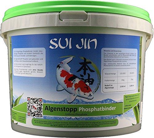SUI JIN Teichprodukte AlgenStopp Phosphatbinder für 125.000 L (2500 ml)