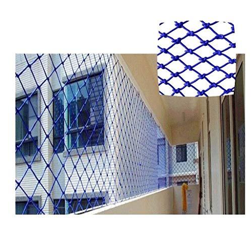 Blue Rope Net Schutznetz for Windows Schutznetz for Balkon Treppenschutznetz for Außenbalkon Bruchsicheres Netz Tresor-Schienennetz for Kinder/Haustier/Spielzeug, Robustes Netzgewebe