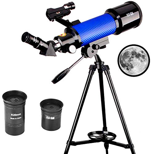 Check Out This Moutec Educational Telescope, 70mm Apeture Astronomy Refracter Telescope 400mm AZ Mou...