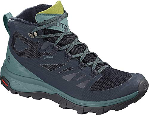 SALOMON Womens Outline Mid GTX W Track and Field Shoe, Navy Blazer, 40 2/3 EU