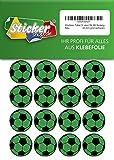 Lote de 66 pegatinas de fútbol de 30 mm, color verde y negro, de PVC impreso, autoadhesivas, EM, WM, Bundesliga