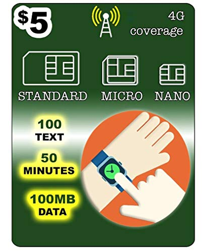 SmartWatch SIM-Karte für 2G 3G 4G LTE GSM Smartwatch und tragbare Roaming erhältlich - 30-Tage-Service