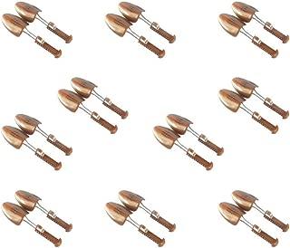 10 pair of Women Practical Plastic Adjustable Length Shoe Organizers Spring Shoe Stretchers (Brown)
