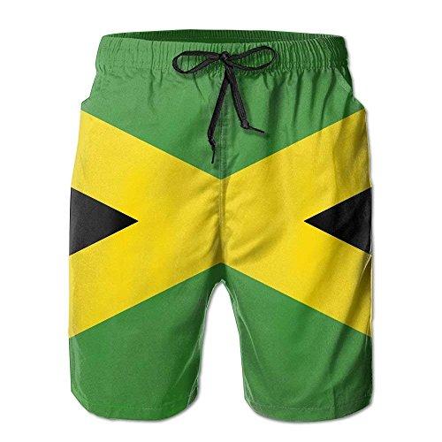 Jamaika Flagge Männer/Jungen Casual Badehose Kurze Strandhose mit elastischer Taille und Taschen