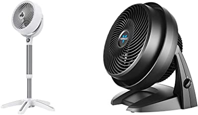Vornado 683DC Energy Smart Medium Pedestal Air Circulator Fan with Variable Speed Control & 630 Mid-Size Whole Room Air Circulator Fan