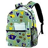 Leisure Campus - Mochilas de viaje, bolsas de higiene verdes con soporte para botellas para niñas y niños