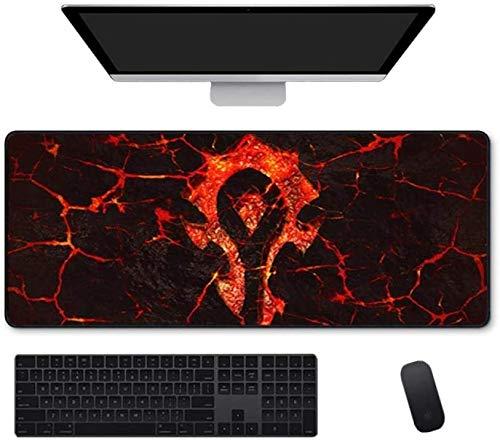 Große Mode Gaming Mauspad World of Warcraft Wow Horde Logo Erweiterte Tastatur Maus Mats Café Spiel Mousepad für Büro Home Rutschfeste PC Desktop Tabelle Mauspads ( Color : D , Size : 900*400*3mm )