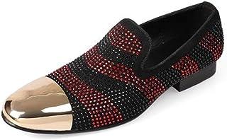 Rui Landed Oxford para Hombre Zapatos Formales de Deslizamiento en el Estilo de Cuero Genuino Dedo del pie Exquisito Color...