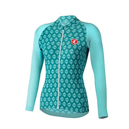 Uglyfrog - Camiseta térmica de manga larga para mujer, para ciclismo, con 3 bolsillos