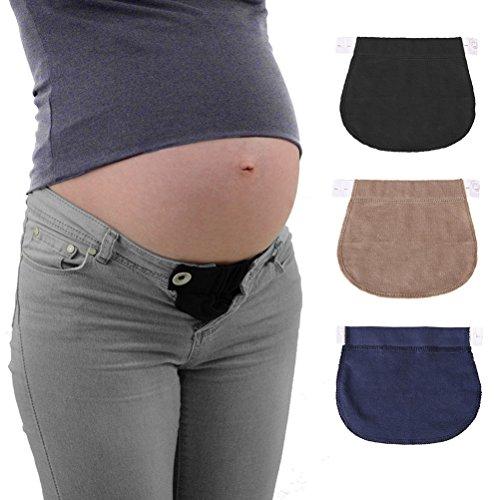 Healifty Uitbreiding voor zwangerschapsbroek, individueel verstelbaar, inhoud: 3 stuks.