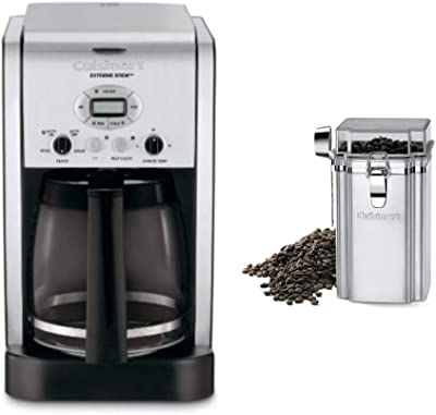Cuisinart DCC-2650 Brew Central 12-Cup Programmable Coffeemaker Includes Coffee Bean Canister Bundle (2 Items)