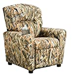 Brazil Furniture Children's Home Theater Recliner with Cupholder, Flooded