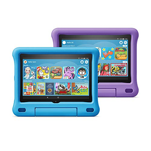 All-new Fire HD 8 Kids Edition tablet 2-pack, 8' HD display, 32 GB, Blue/Purple Kid-Proof Case