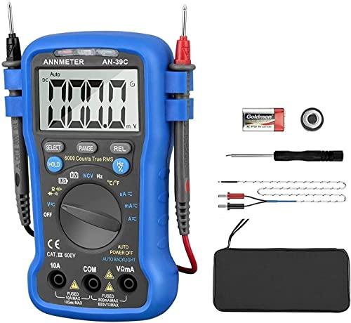 Digital Multimeter,AN-39C 6000 Counts Auto Range AC/DC Voltage Current...