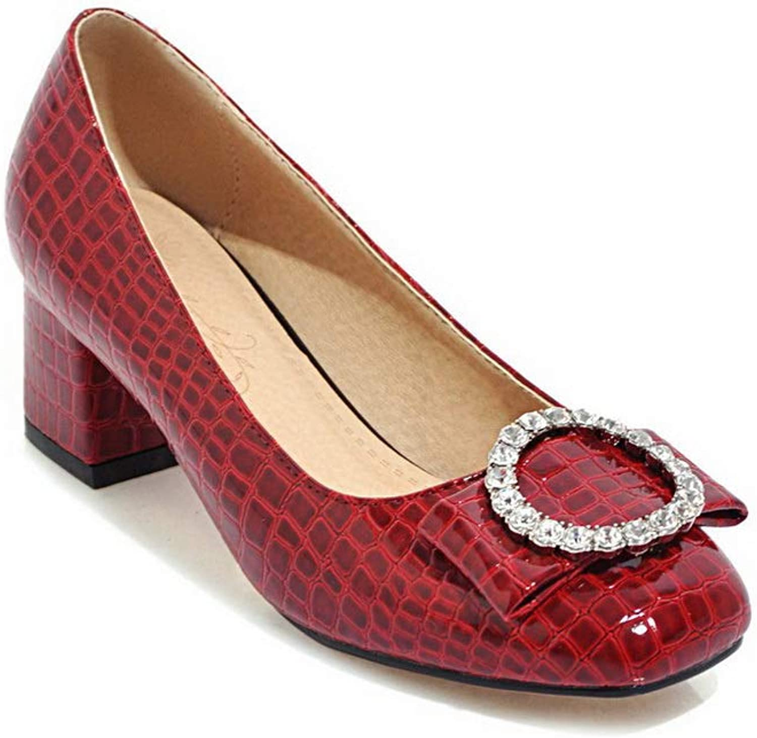 1TO9 Womens Beaded Solid Travel Urethane Pumps shoes MMS06353