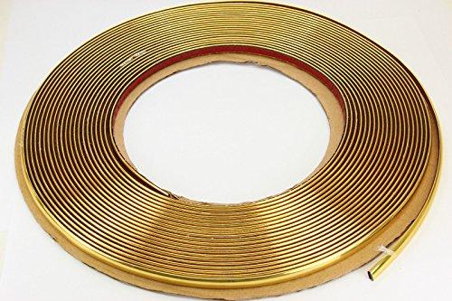 phil trade Gold Chrom Zierleiste 4mm x 15m selbstklebend universal Auto Goldleiste Kontur