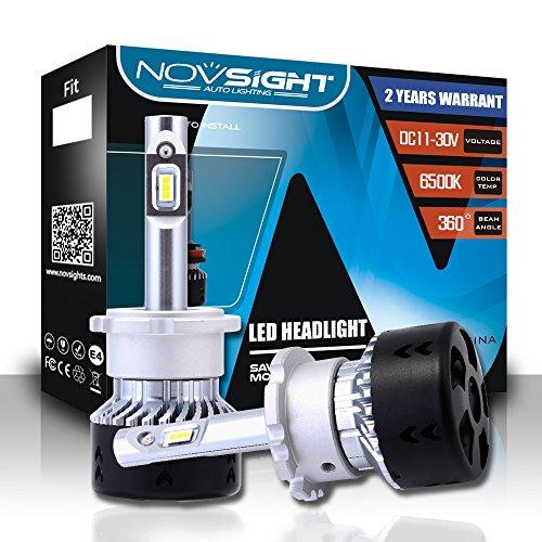 Novsight D2S D2R D4S D4R Bombilla LED Para Faros Delanteros Lampara Impermeable Luces Reemplazo de Halógena y Kit 10000LM 6500K