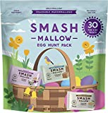 SMASHMALLOW marshmallows Easter variety pack 30 individually-wrapped mallows in three top selling flavors: Cinnamon Churro, Cookie Dough, and Toasted Vanilla A sweet treat that is perfect for snacking right out of the bag as a healthier alternative t...