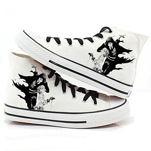 Telacos Black Butler Kuroshitsuji Anime Ciel y Sebastian Cosplay Zapatos Zapatillas Zapatos de Lienzo 2