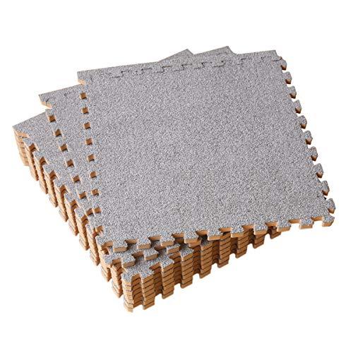 UMI. Essentials -Alfombras de Espuma entrelazadas de 30 X 30 cm (Gris Claro 9 Piezas)