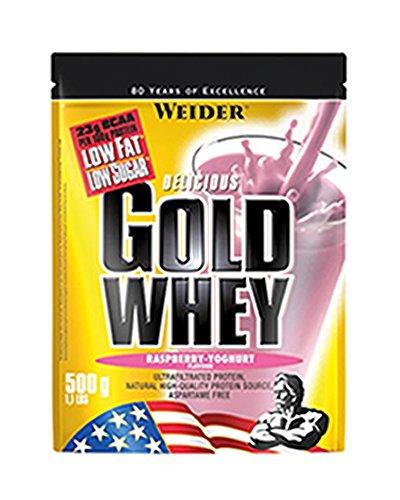 Weider Gold Whey Protein Himbeer-Joghurt, Low Carb, Eiweißpulver für Fitness und Bodybuilding, 500g
