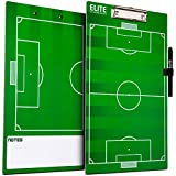 Elite Clipboards Dry Erase Soccer Coaches Clipboard | Double-Sided...