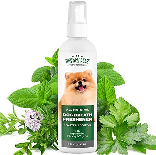 2 in 1 Dog Breath Freshener Spray Water Additive All Natural Dog Dental Care That Fights Bad product image
