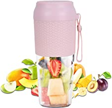 Portable Personal Blender, Cordless Small Smoothie Blender Waterproof, BPA Free 300ml Mini Fruit Juicer Mixer with USB Cha...