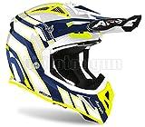 Airoh Avar18 - Casco integral para moto (todoterreno), color azul brillante XS.