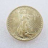 絶妙なコインアンティーク工芸品1921年アメリカの金貨外国の銀貨銀ラウンドバッチ