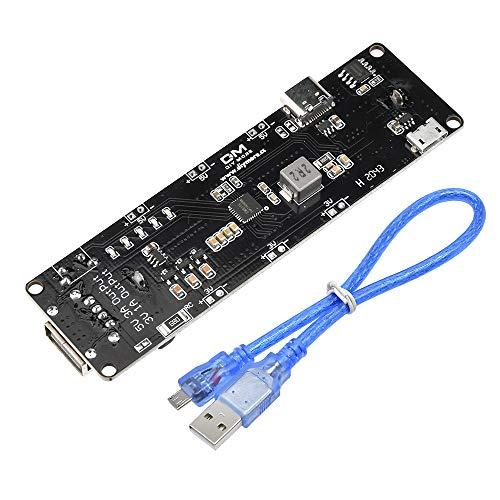 diymore ESP32S per Wemos per Raspberry Pi 18650 Batteria Shield V3 Porta Micro USB Tipo C USB 0.5 A per Arduino Fai da Te Kit con Cavo…