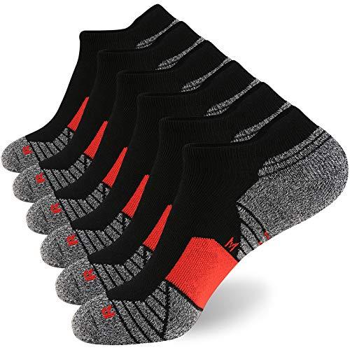 WANDER Herren Sneakers Männer Kurze Socken 6 Paar sportsocke Tennissocken Laufsocken Mit Verstärkter Frotteesohle Unisex Füßlinge 38-43